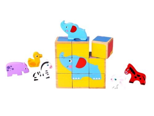 Animal Building Block Puzzle Elephant