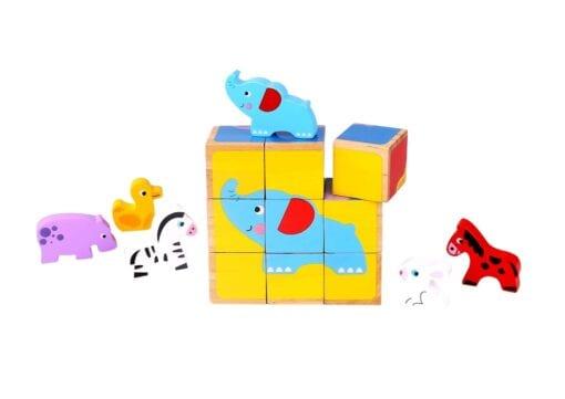 Animal Building Block Puzzle Elephant
