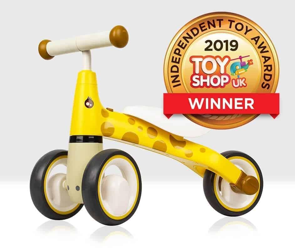 Beehive Toy Giraffe Balance Bike Gold Medal Winner