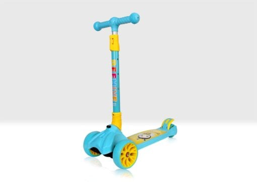 Blue folding scooter