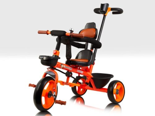 Orange Trike with Parent Handle