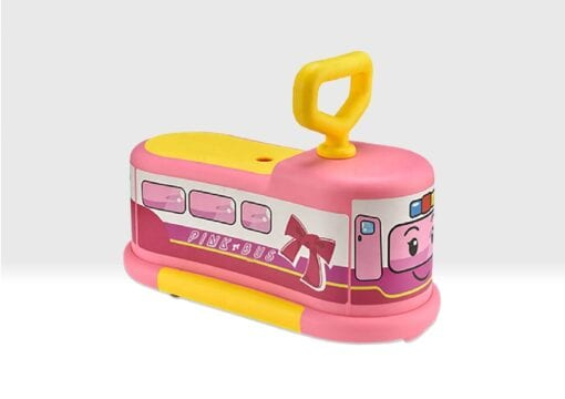 Pink ride on bus