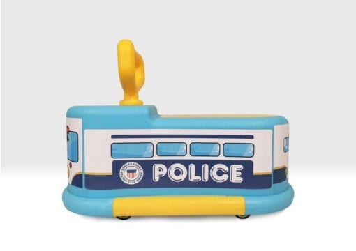 Ride on police car side view