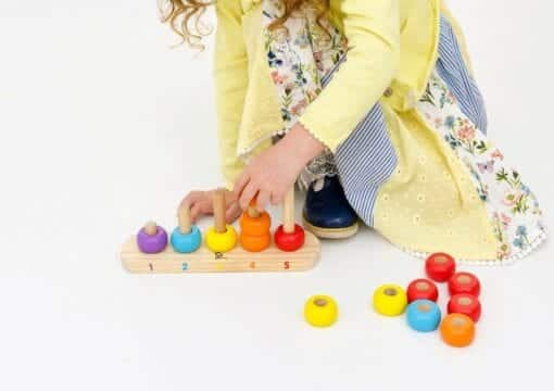 Child playing with Ring counter
