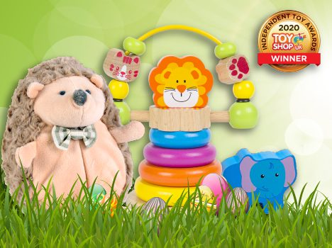 A collection of spring sale toys